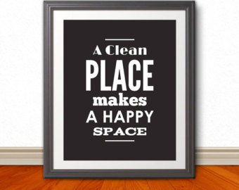 a clean home and a happy mind