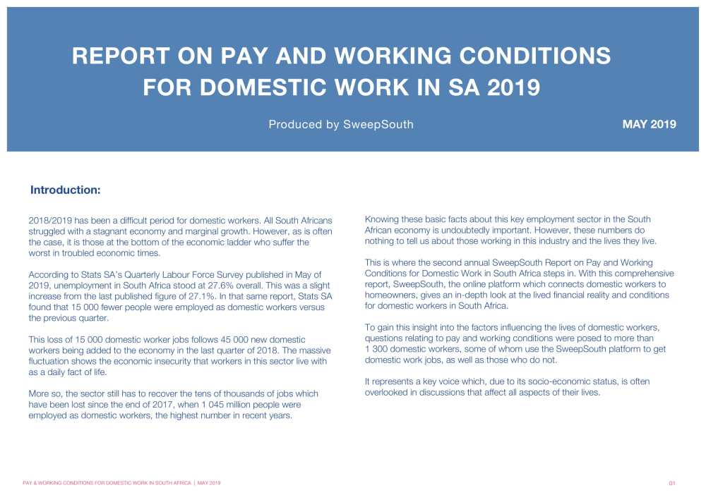 Report on Pay and working conditions for domestic work in SA 2019__Final Report-01
